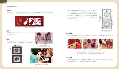「有賀則子型絵染画集」本文その5
